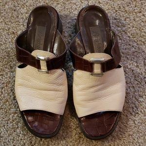 Vtg Brighton Croc Slip on Mules sz 7.5